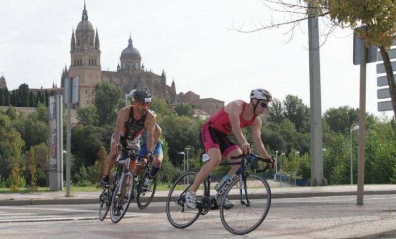 Segment de cyclisme du triathlon de Salamanque