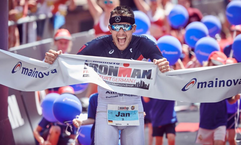 Jan Frodeno winning the IRONMAN Frankfurt