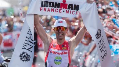 Frederick Van Lierde ganando el IORNMAN Nice