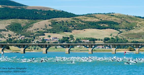 Start of the Buelna Valley Triathlon