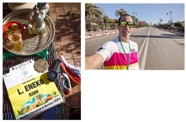 Eneko Llanos media maratón Marrakech