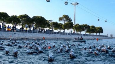 image001-53-390x220 Javier Gómez Noya sigue poniéndose a punto y gana una travesía a nado en Pontevedra Noticias Triatlón