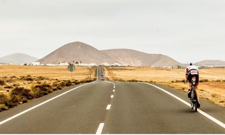 Cycling segment of IRONMAN 70.3 Lanzarote