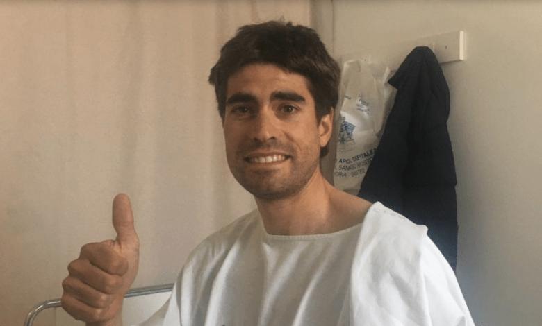 Mikel Landa en el hospital