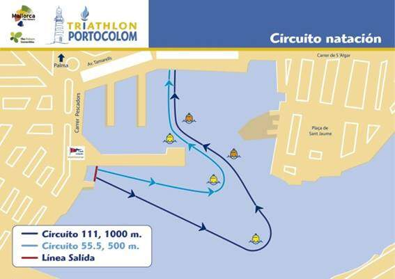 Swimming segment Triathlon Portocolom