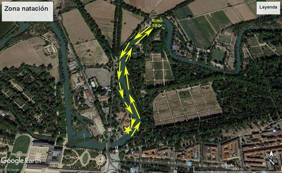 Segment de natation Triathlon MD Aranjuez