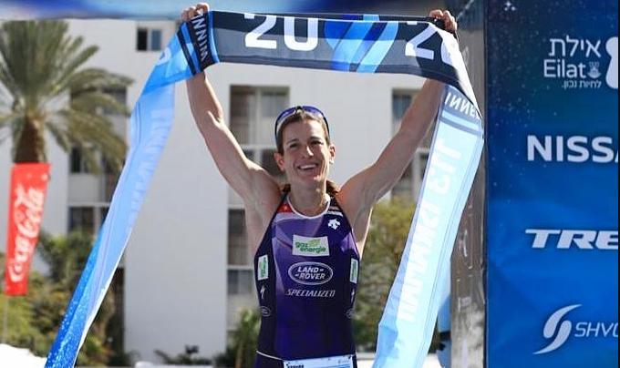 Nicola Spirig winning the Israman 133