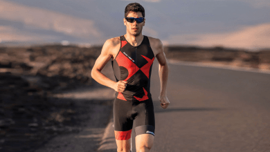 Photo of Santini's triathlon suit collection for IRONMAN