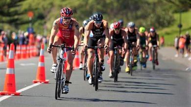 Photo of Antonio Serrat opens the ITU International Triathlon at the Maselspoort Africa Cup