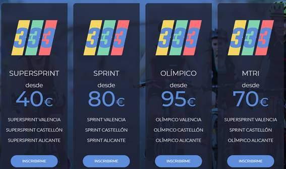Le formulaire d'inscription 3x3x3 du circuit méditerranéen de triathlon