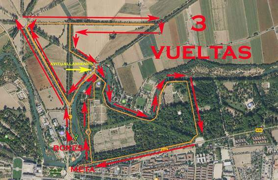 Segmento carrera a pie Triatlón MD Aranjuez