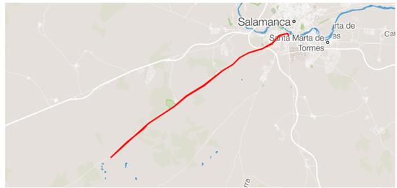 Segment de triathlon MD Salamanque