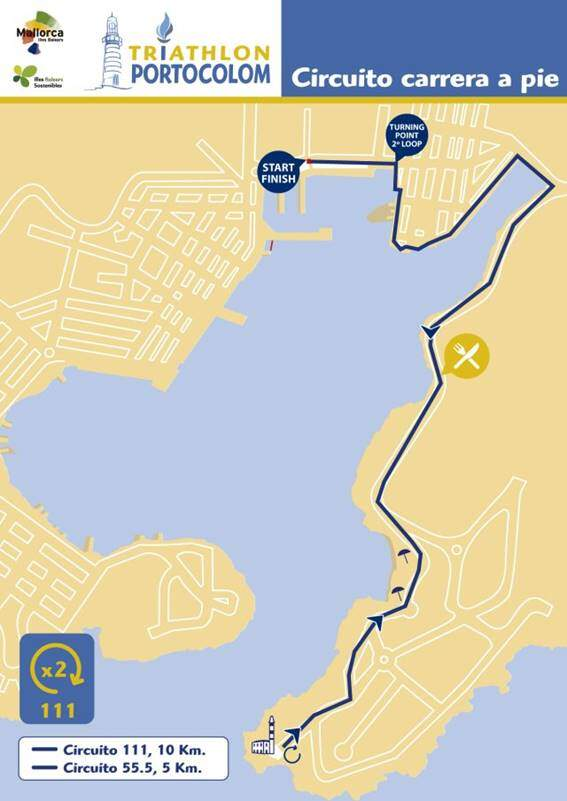 Triathlon Portocolom foot race segment