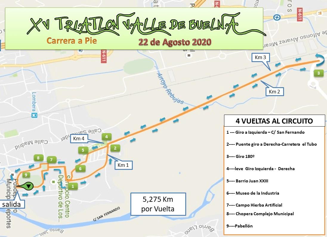 Segment à pied Triathlon Valle de Buelna
