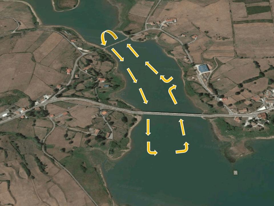 Segment de natation de triathlon de la vallée de Buelna