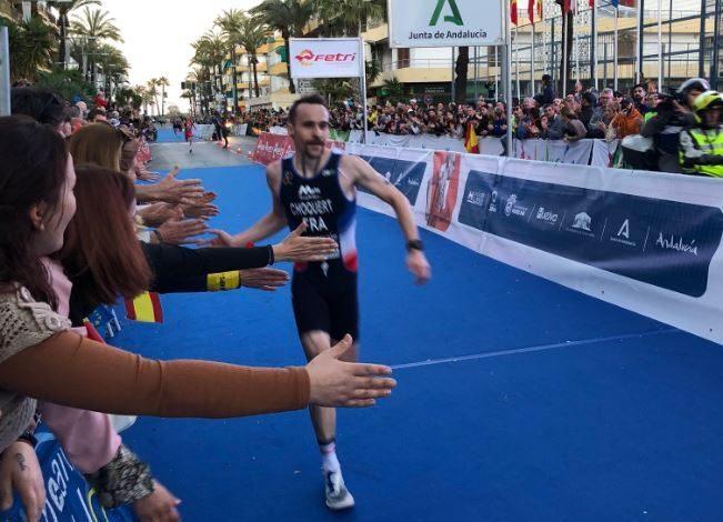 Benjamin Choquert winning the Punta Umbría Duathlon European Championship