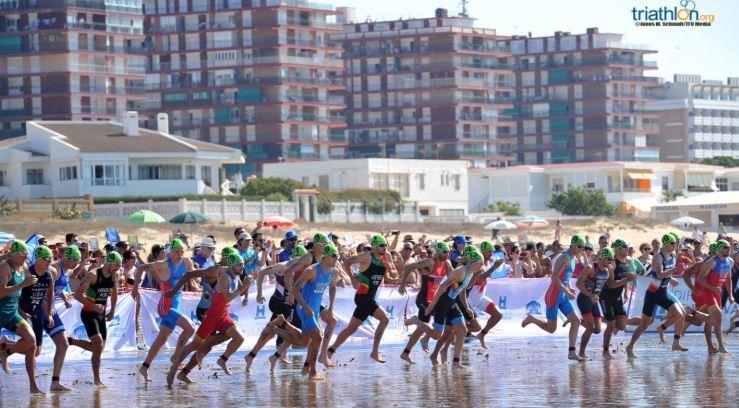 Coupe d'Europe triathlon huevla suspendu