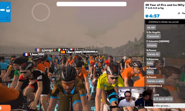 Foto der virtuellen Meisterschaft Spanien Duathlon in Zwift