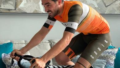 Photo of Alberto Contador Indoor Training Session