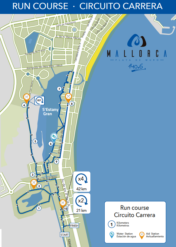 Circuit race on foot Mallorca 140.6