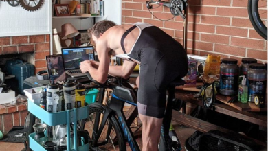 Photo of A professional cyclist does 370 km a day on the roller up to 4.800 km