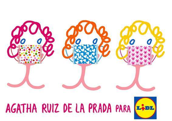 Lidl launches his own masks with Agatha Ruiz de la Prada
