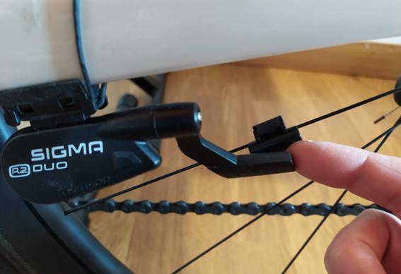 separation of the SIGMA Duo2 sensor within a wheel radius