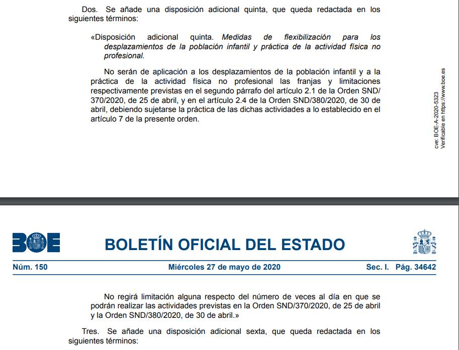 Orden SND/445/2020 26 Mayo