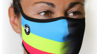 Photo of Judith Corachán presents her official Inverse Windflap® mask.