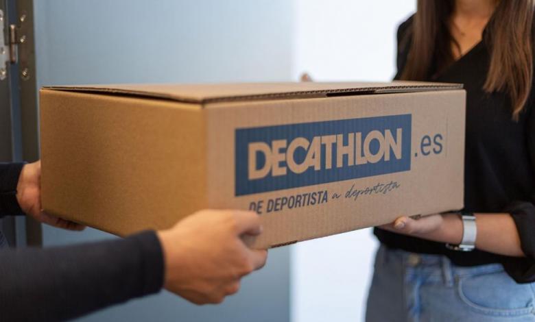 imagen de entrega de paquete Decathlon