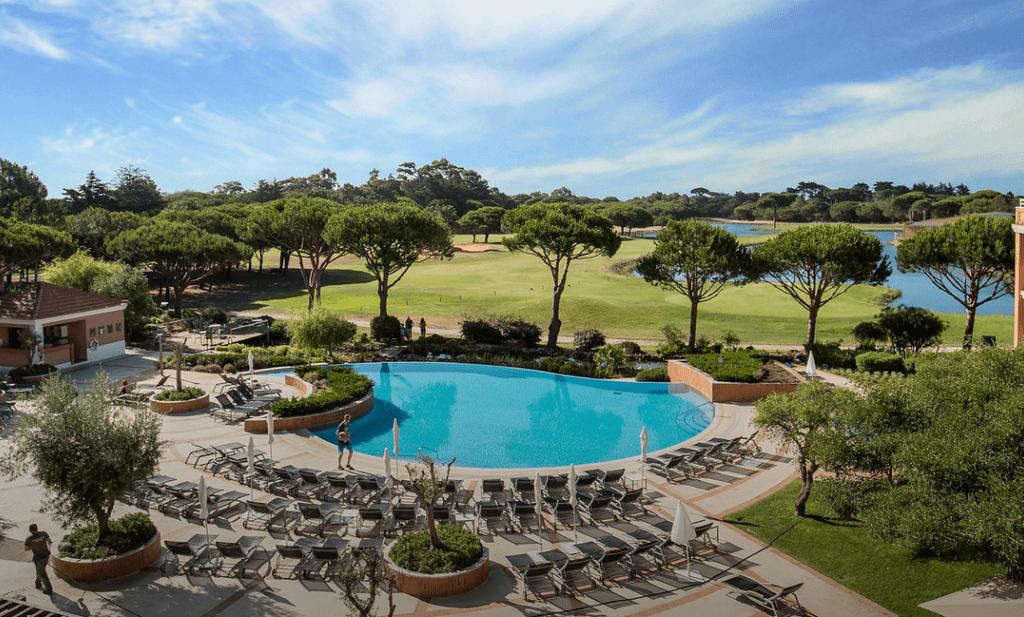 Luftaufnahme des Hotels Onyria Quinta da Marinha