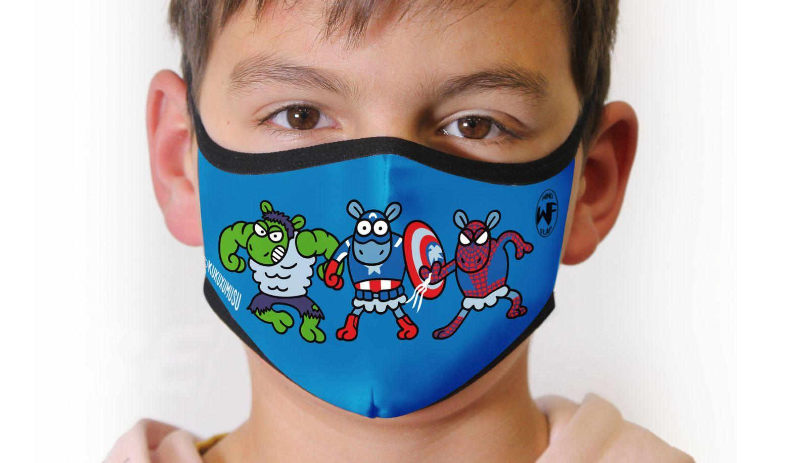 Inverse Windflap masks wear Kukuxumusu