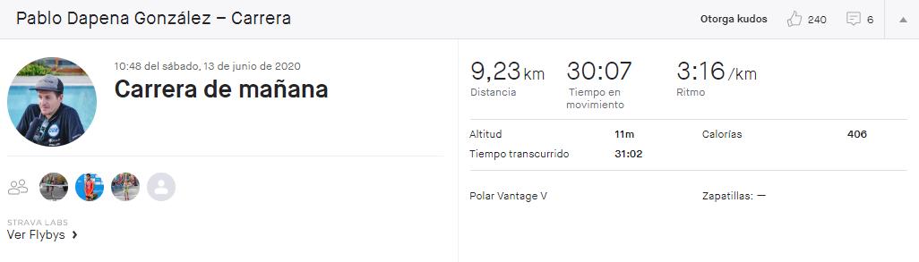 "The ""meeting"" to run at 3:01 by Javier Gómez Noya and Pablo Dapena"