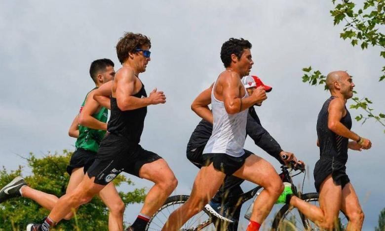 Noya, Dapena and some friends doing the 10 km test