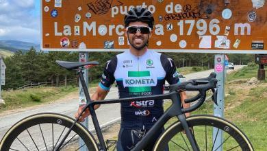 Photo of Alberto Contador's training, climb the port of La Morcuera 4 times