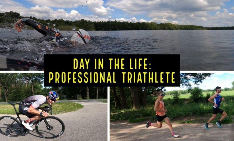 What is a training day like for a professional triathlete?