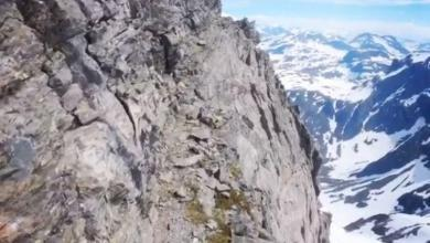 Photo of The spectacular and risky video of Kilian Jornet running in Norway