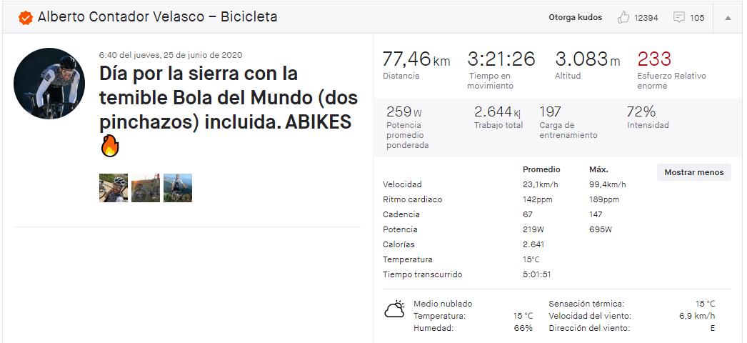 Alberto Contador bricht mit seinem neuen Motorrad den Weltrekord