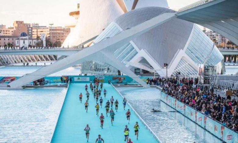 ligne d'arrivée du marathon de Valence