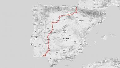 Photo of A cycle touring route to cross Spain from North to South