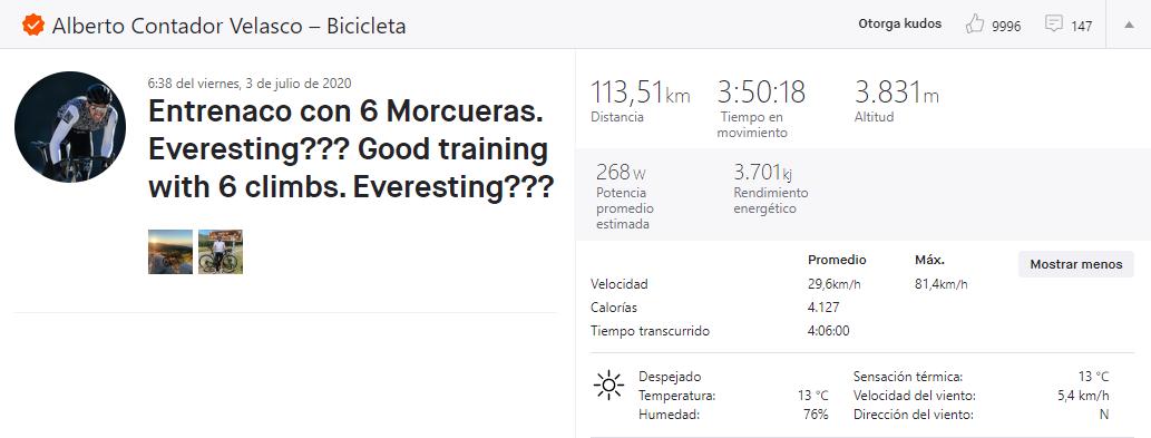 Alberto Accountant continue de dominer, 6 ascensions au Morcuera