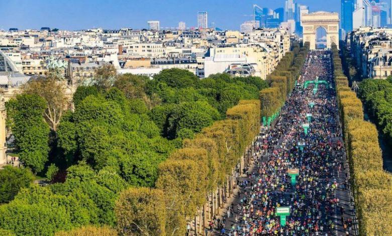 Champs Elysees maratón de Paris