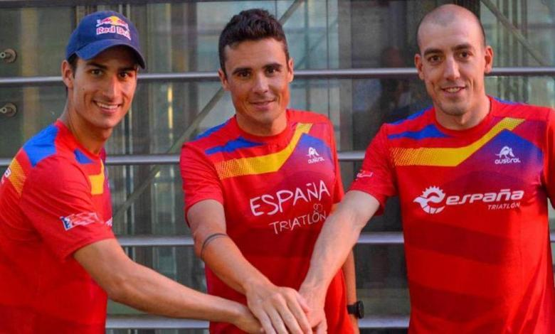 Mario Mola, Javier Gómez Noya and Fernando Alarza