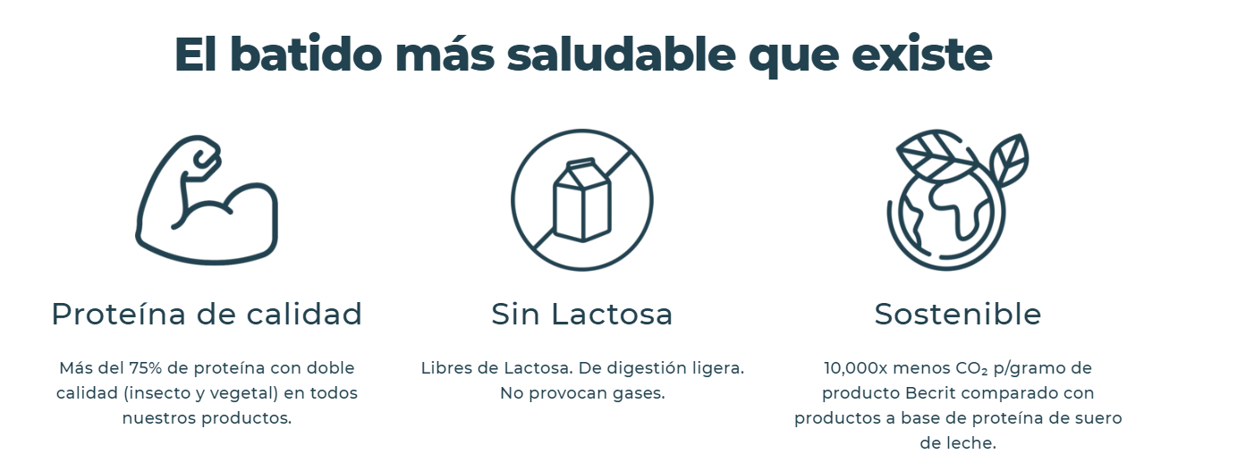Launch of the first insect protein shake in Spain