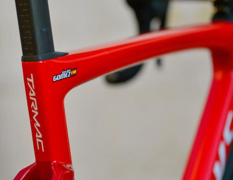 Javier Gómez Noya's new bike, Specialized Tarmac SL7