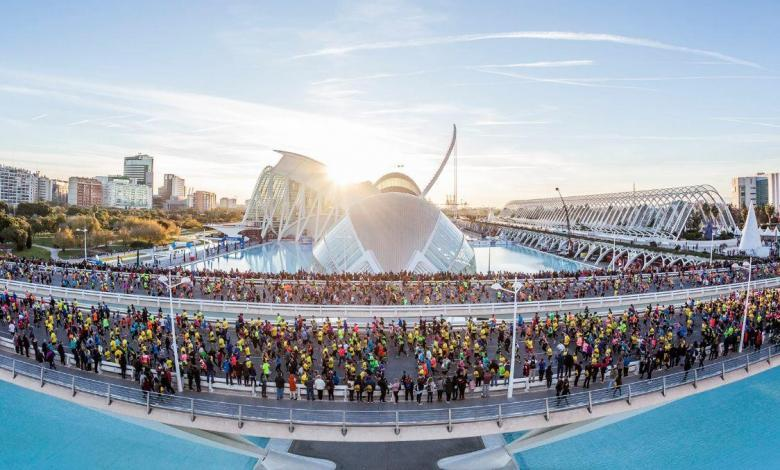 Das Foto des Valencia-Halbmarathons ist ausgesetzt