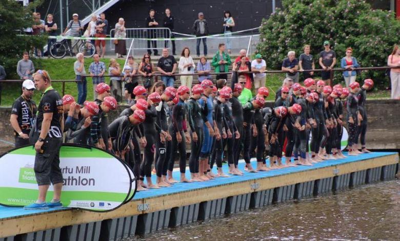 Début d'un triathlon à Tartu