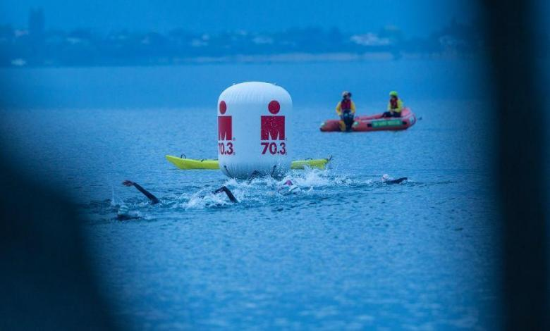Swimming in the IRONMAN 70.3 Taupo
