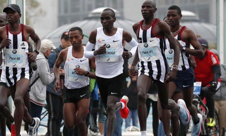 Sport / Bekele and Kipchoge running in the Berlin Marathon 2017