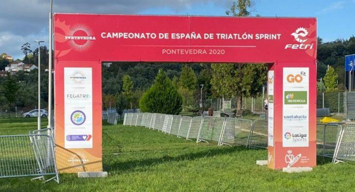 Goal of the Spanish Sprnt Triathlon Championship